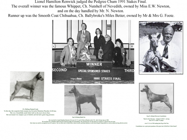 GREAT BREEDERS & EXHIBITORS OF YESTERYEAR .LIONEL HAMILTON RENWICK (BIRLING) By Geoffrey Davies